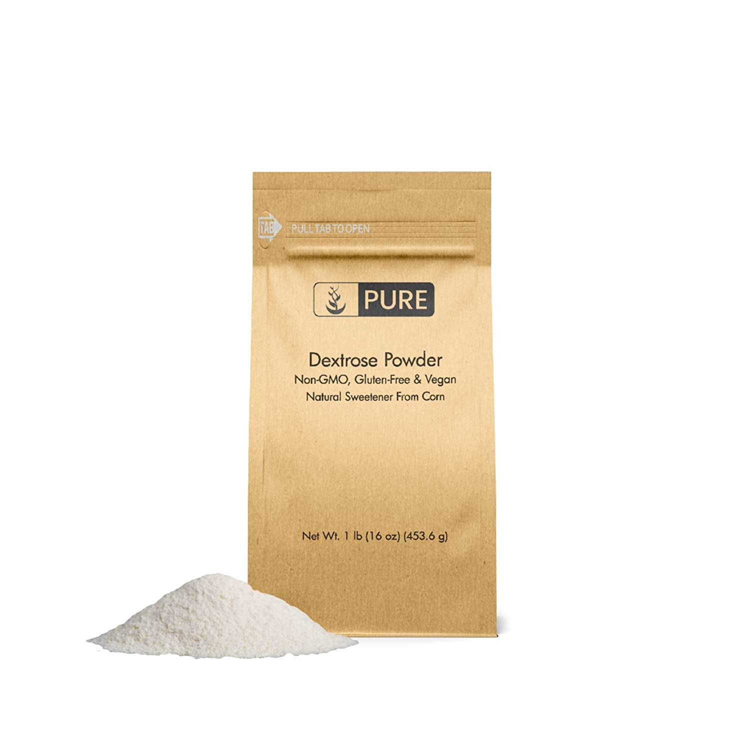 Dextrose (1 lb.) by Pure, Sugar Replacement Sweetener For Shakes or Baking