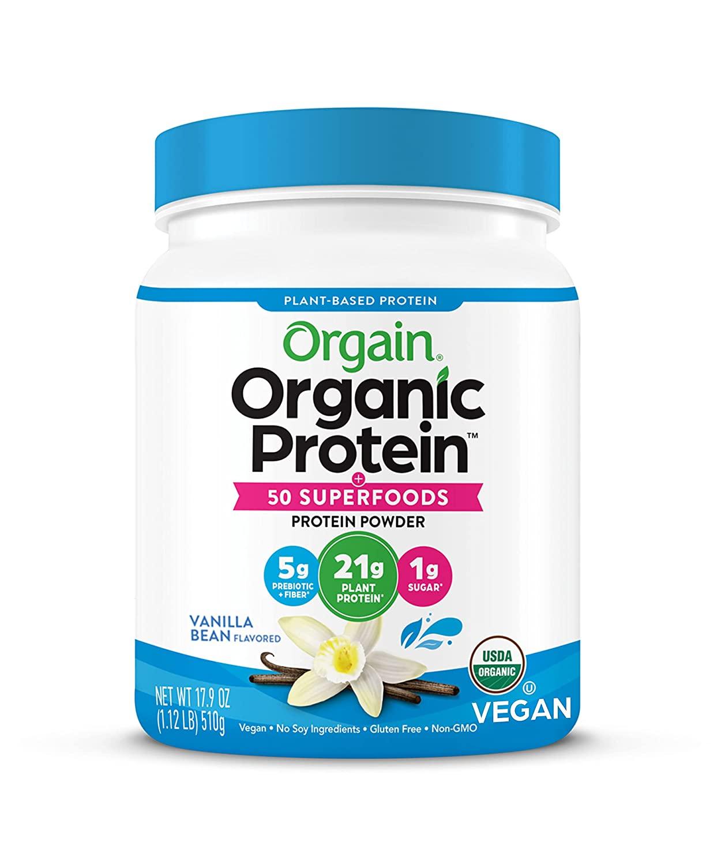 Orgain Organic Protein Powder, Vanilla Bean - Vegan