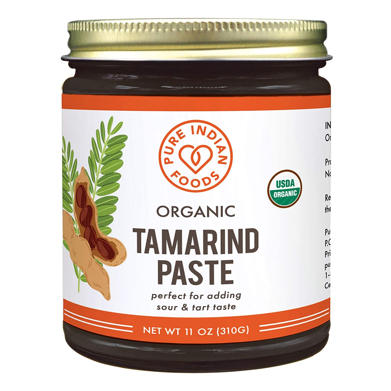 Pure Organic Tamarind Paste Concentrate - Sweet and Sour Sauce for Indian Chutney and Thai curry