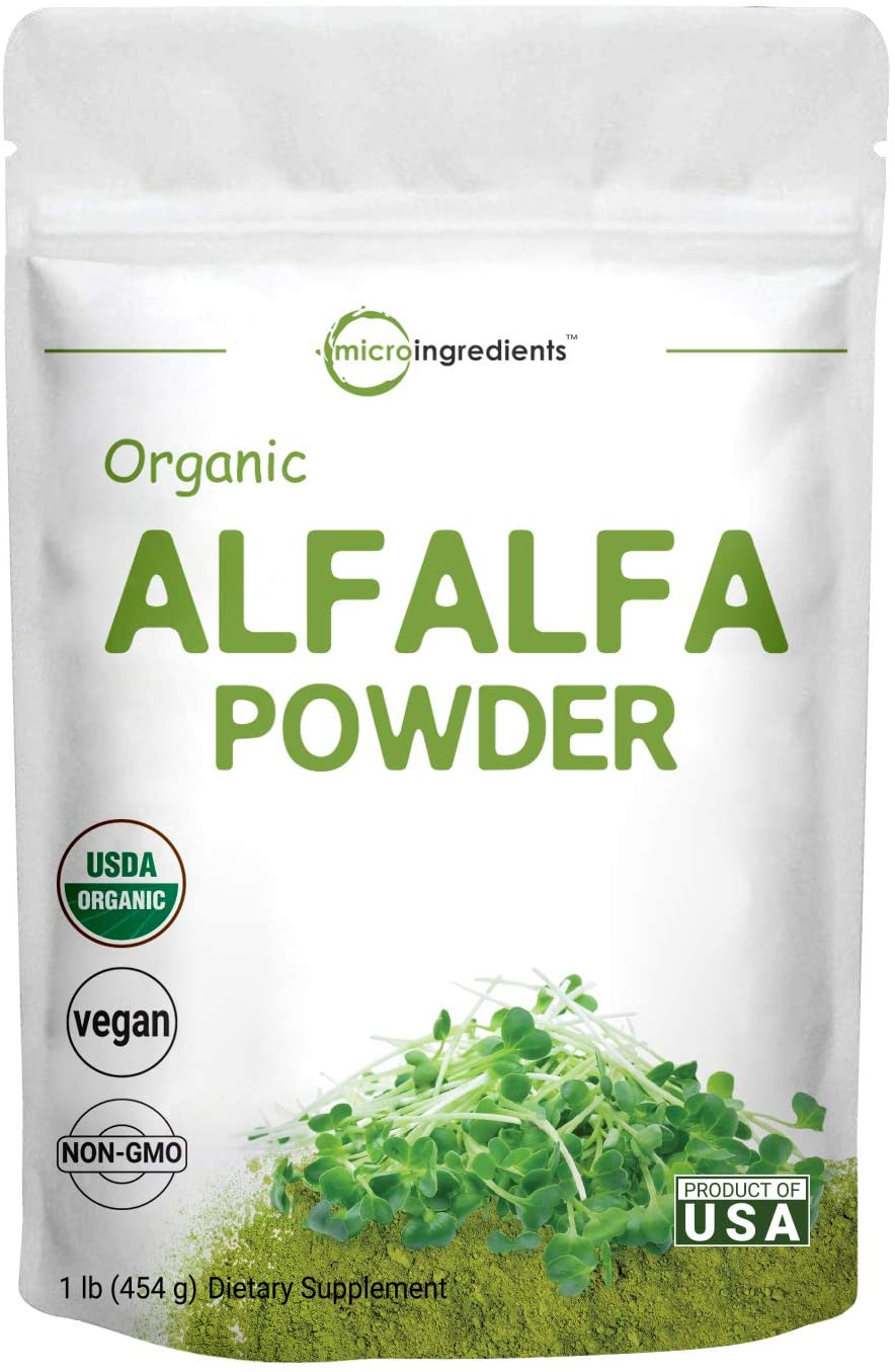 Sustainably US Grown, Organic Alfalfa Powder