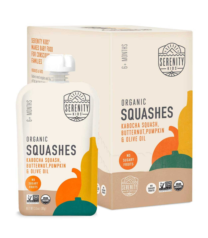 Serenity Kids Baby Food Pouches, Organic Kabocha Squash