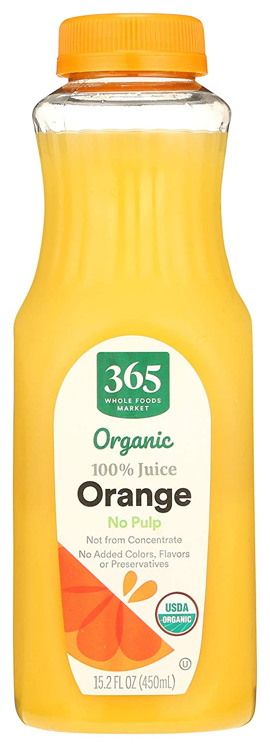 365 Everyday Value, Organic, Orange Juice, Not From Concentrate, 15.2 fl oz