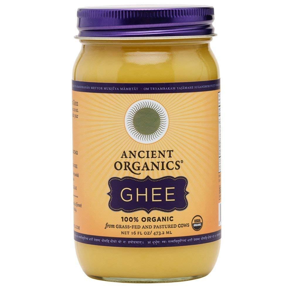 Ancient Organics Ghee, Organic Grass Fed Ghee Butter – Gluten Free Ghee, Clarified Butter, Vitamins & Omegas