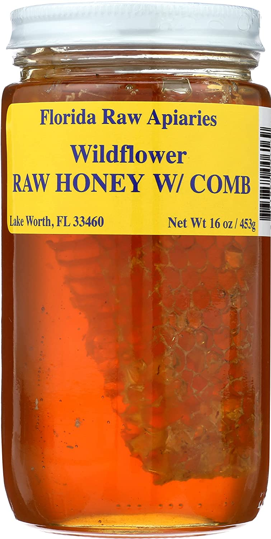 Buzzn Bee Wildflower Honey With Comb, 16 OZ