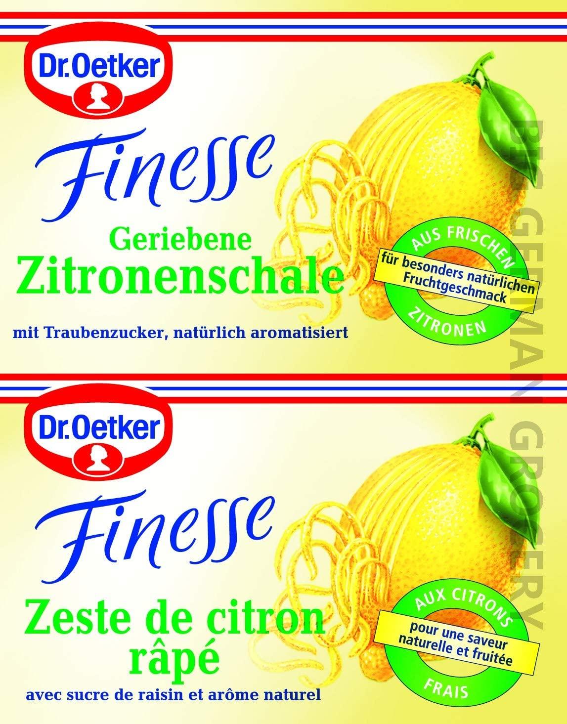 Dr. Oetker Finesse Geriebene Zitronenschale (grated lemon zest)