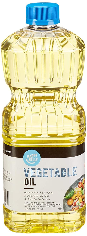 Happy Belly Vegetable Oil, 48 Fl Oz