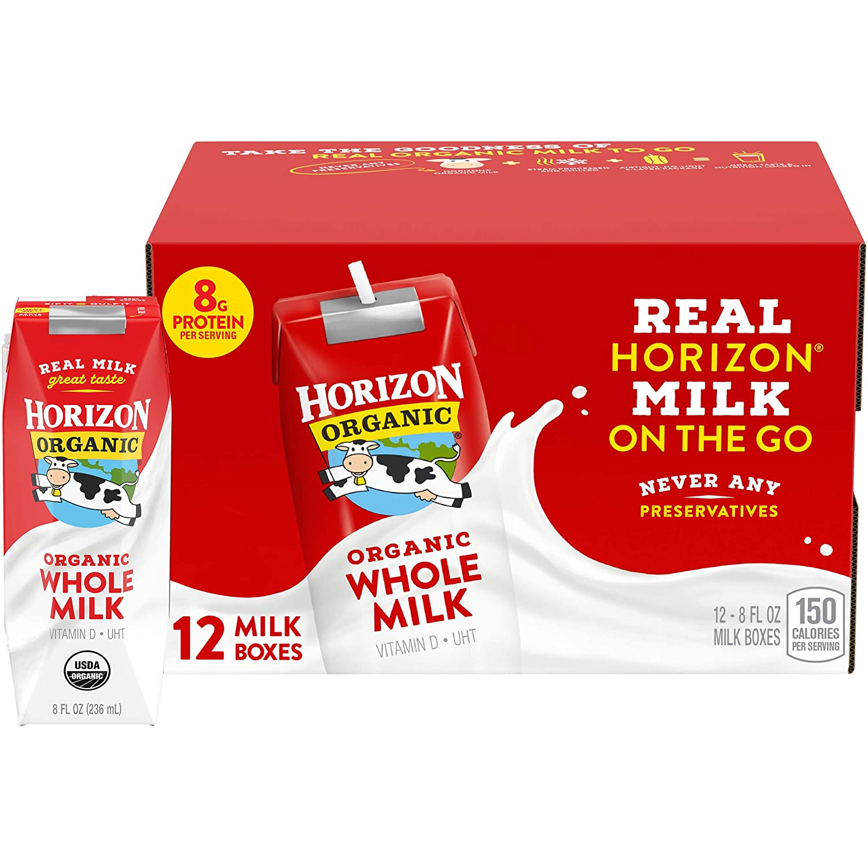 Horizon Organic Whole Milk Single, 8 Fl Oz