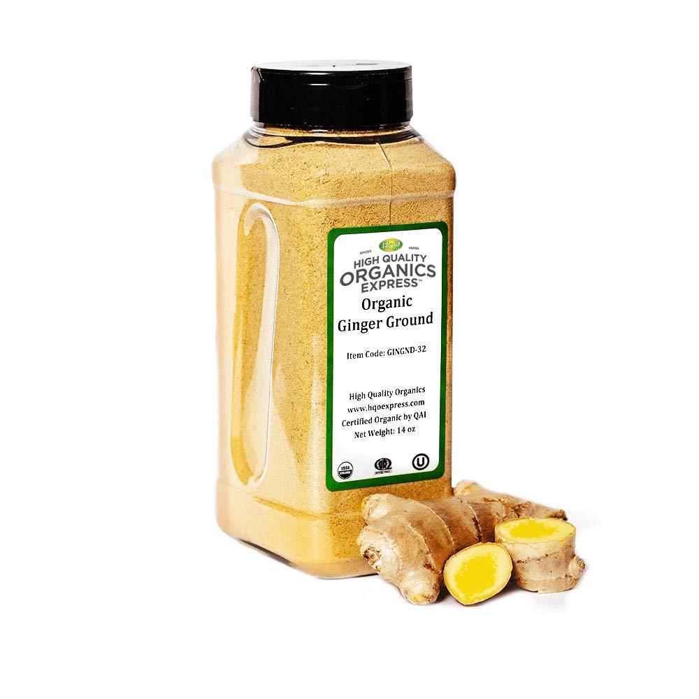 HQOExpress   Organic Ground Ginger   14 oz. Chef Jar
