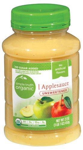 Simple Truth USDA Organic Unsweetened Applesauce 23 Oz. Bottle