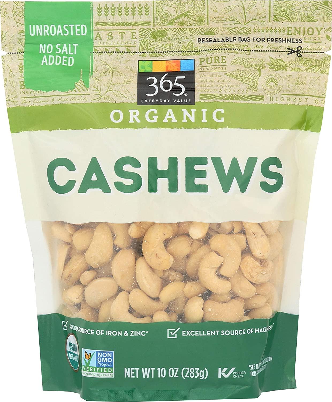 365 by WFM, Cashews Organic, 10 Ounce