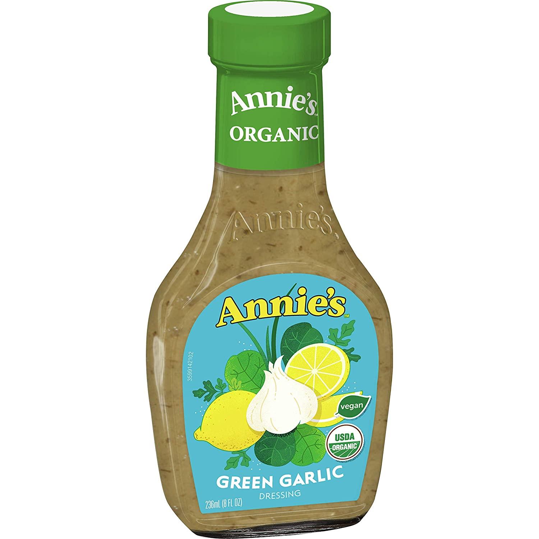 Annie's Green Garlic Salad Dressing, Certified Organic, Vegan, Non-GMO, 8 fl oz