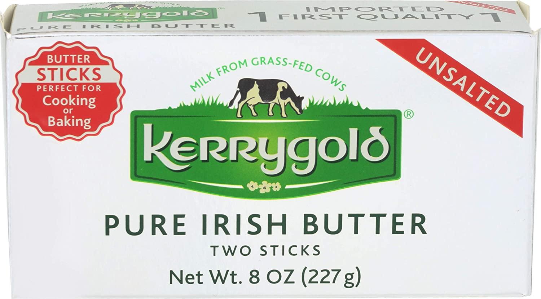 Kerrygold Unsalted Butter Sticks, 8 Ounce (Pack of 20)