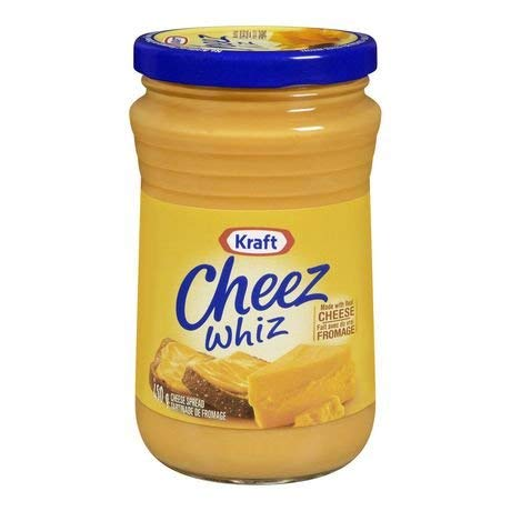 Kraft Cheez Whiz 450 grams each Made with Real Cheese - Imported from Canada