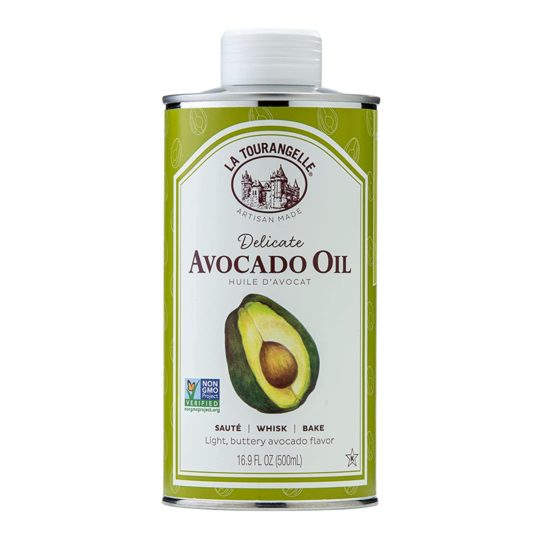 La Tourangelle, Avocado Oil, All-Natural Handcrafted from Premium Avocados, Great for Cooking, as Butter Substitute, and for Skin and Hair, 16.9 fl oz