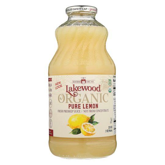 Lakewood Organic Pure Lemon, 32 Ounce (Pack of 6)