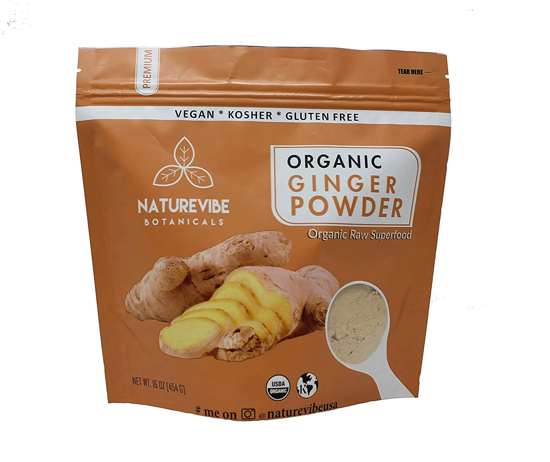 Naturevibe Botanicals Premium Organic Ginger Root Powder