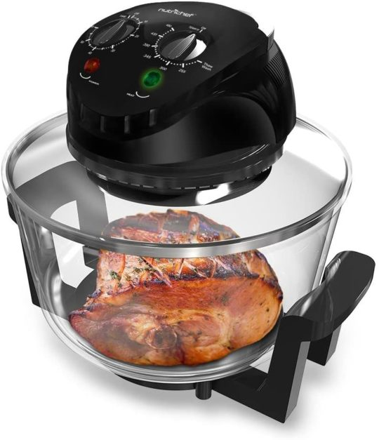 NutriChef Convection Countertop Toaster Oven - Healthy Kitchen Air Fryer Roaster Oven