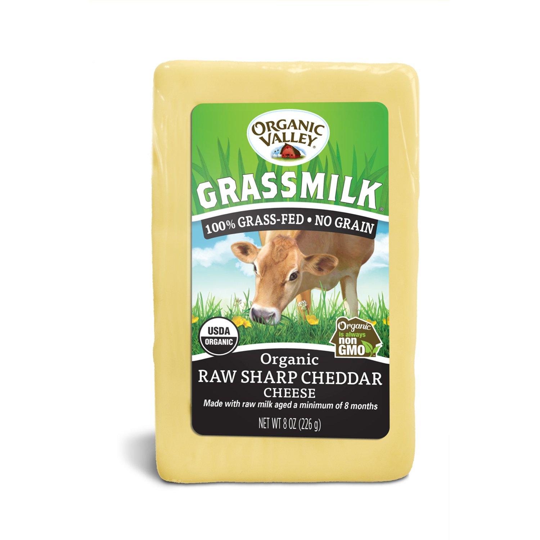 Organic Valley Grassmilk Raw Organic Sharp Cheddar Cheese Block, 8 oz