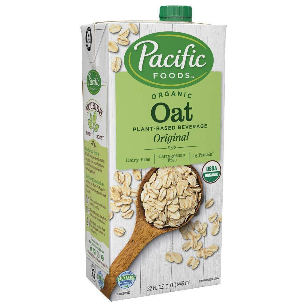 Pacific Foods Organic Oat Original Plant-Based Milk, Organic Oat - Original, 32 Fl Oz