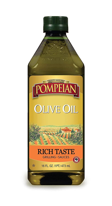 Pompeian Rich Taste Olive Oil, Rich, Full Flavor, Perfect for Grilling & Sauces, Naturally Gluten Free, Non-Allergenic, Non-GMO, 16 FL. OZ.
