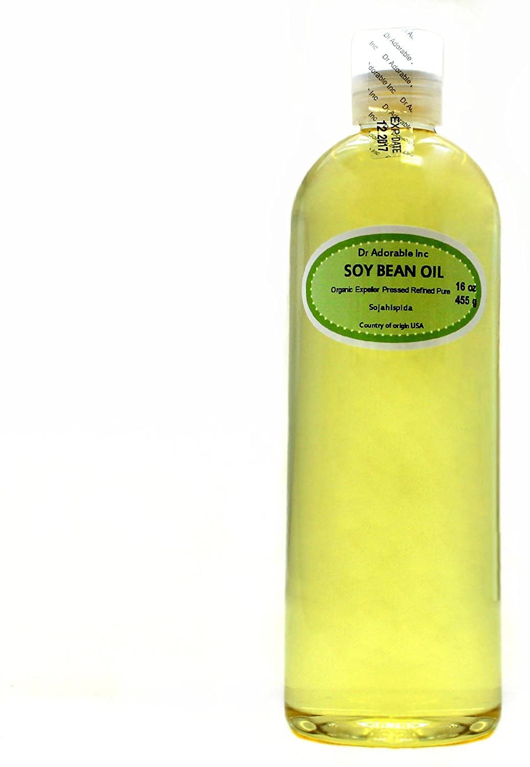 Soybean Oil Pure Soy Oil Cold Pressed Organic 16 Oz