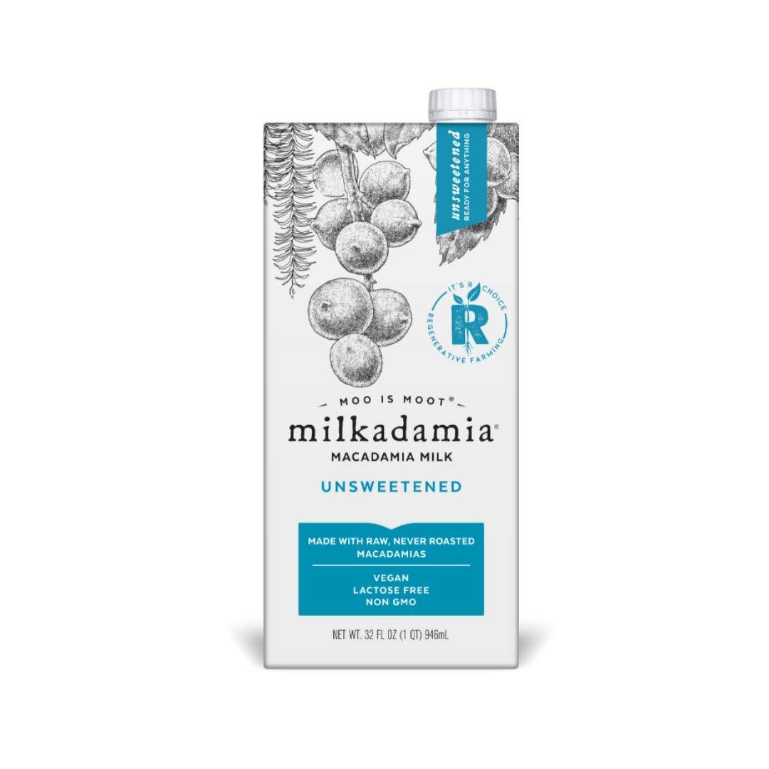 milkadamia Macadamia Milk, Unsweetened - 32 Oz, 6 Count