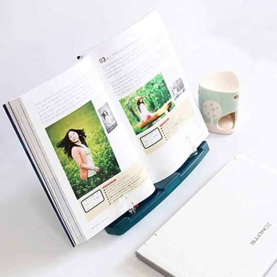 Actto BST-09 Green Portable Reading Stand-Book stand Document Holder (180 angle adjustable)