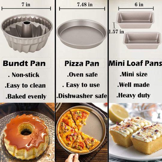 Esjay Cake Pan Set for Instant Pot 6, 8Qt, Accessories for Ninja Foodi 6.5, 8Qt