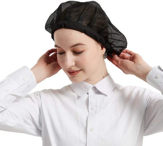Hair Nets Food Service Elastic Drawstring Chet Hats Mesh Cap Cooking Nets Reusable for Restaurant Kitchen