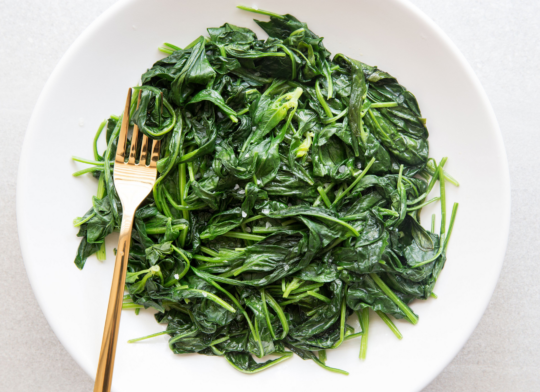 How to Cook Spinach in a Pan.