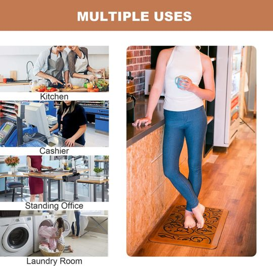 Kitchen Mats Rugs Anti Fatigue Small Cushioned Comfort Floor Mat, Standing Mats for Home Kitchen Sink Office Standing Desk Laundry