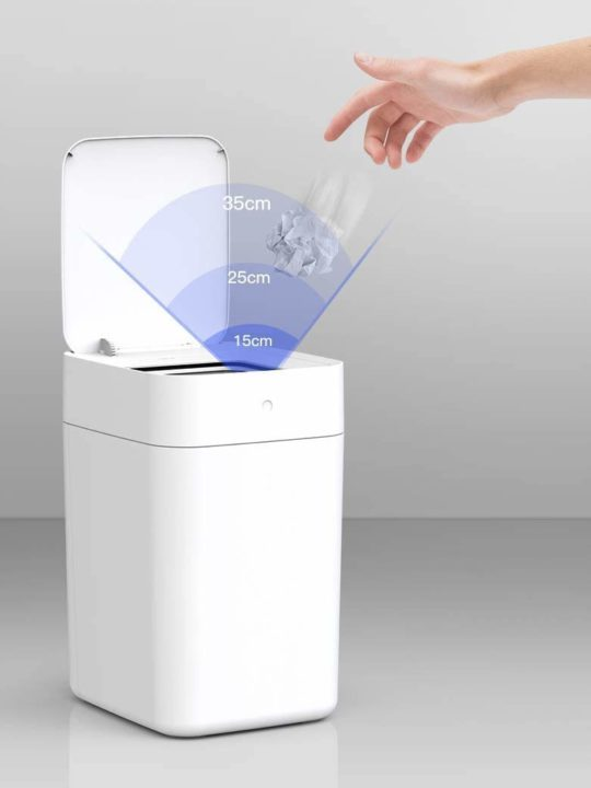 TOWNEW T1S 4 Gallon Smart Trash Can for Home and Office, Self Sealing and Self Replacing Just in One Touch x1 Refill Ring Included